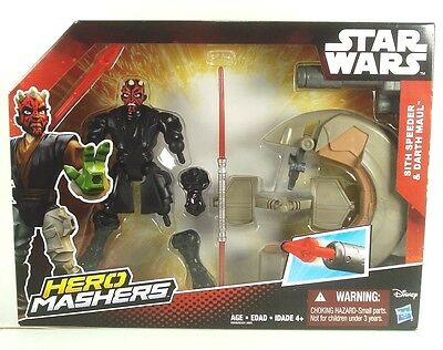 STAR WARS Super Hero Mashers - DARTH MAUL & SITH SPEEDER -   NEW FREE - Super Hero Star