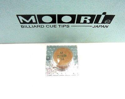 Moori Medium Pool Cue Tip 14mm Qty 1 Tip