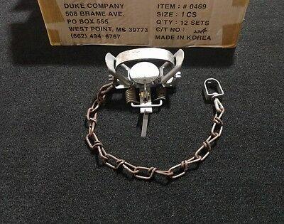 1 Duke # 1 Coil Spring Trap Raccoon Muskrat Nutria Rabbit 0469 Survival Trap , used for sale  Hortense
