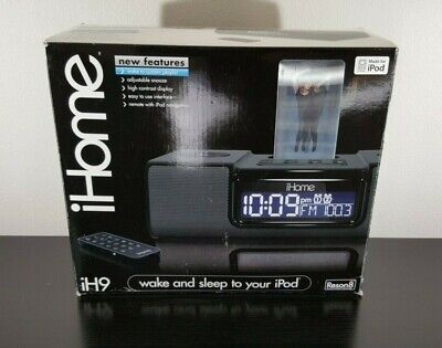 iHome iH9 Clock Radio For Vintage iPod Speaker Alarm 2 Tested