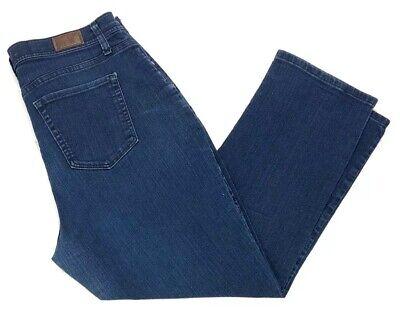 Dark Straight Leg Jeans - Lee Classic Fit Straight Leg at the Waist Women's Jeans Denim 16W Petite Dark