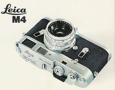 LEICA M4 RANGE-VIEWFINDER CAMERA BROCHURE -from 1967--LEICA M4