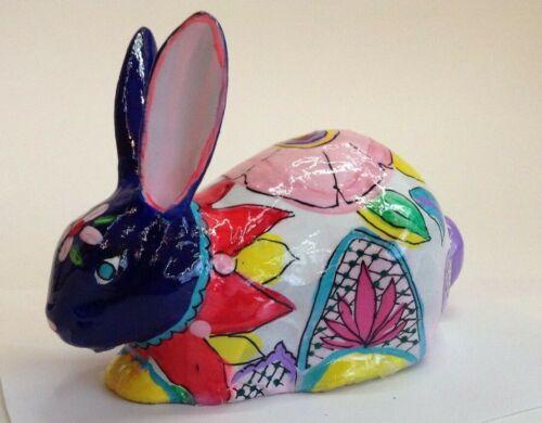 Talavera Style Rabbit ceramic Bunny