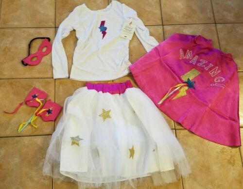 Pottery Barn Kids Pink Amazing Girl Halloween Costume 7-8 #2412