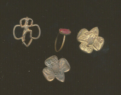 1940s Jewelry Styles and History A33 - VINTAGE 1940's 1950's GIRL SCOUT EAGLE PINS, BROWNIE PIN & GIRLS RING $9.95 AT vintagedancer.com
