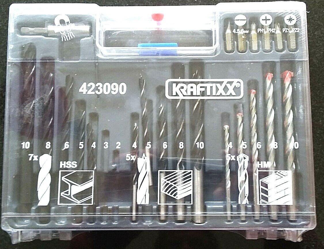 KWB 300 tlg Bit Bohrer Dübel Sortiment Set im Koffer KRAFTIXX Sortimentskasten