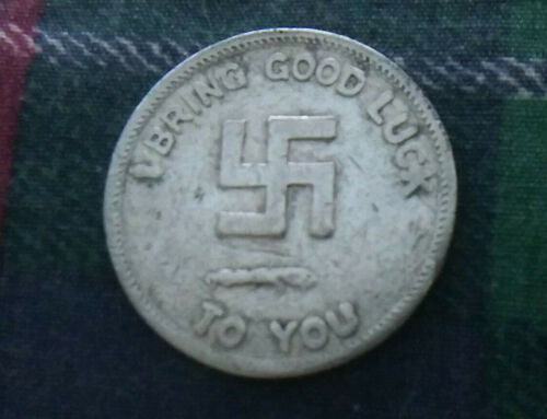 Pre 1933 Good Luck Swastika Token Home Lover