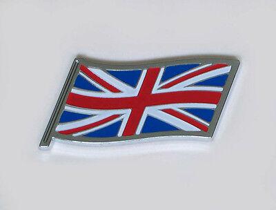 British Union Jack Flag Enamel Kings Crown Classic Car Badge Vehicle Parts & Accessories Auto Mascot