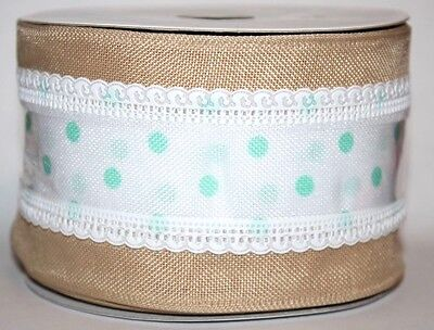 Celebrate It Occasions Wired Ribbon Bow-Tique Lace 2 1/2