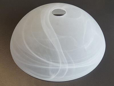 Glas Lampenschirm Ersatzglas Schale weiß alabaster E27 Lochmaß Fassung ø 42mm