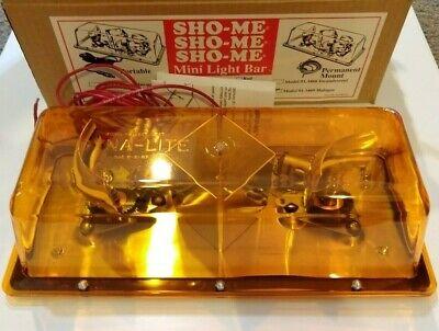 Able2 Sho-me Amber Halogen Mini Strobe Lightbar Hardwire Permanent Mount 01.3469