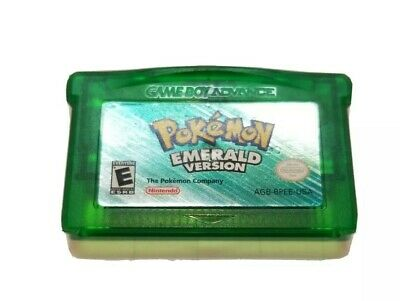 Genuine Nintendo Pokemon Emerald Version GameBoy Advance Authentic TESTED GREAT!