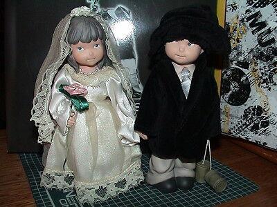 KIM ANDERSON TWO HEARTS ONE LOVE 864498 BRIDE GROOM CAKE TOP WEDDING ANNIVERSARY