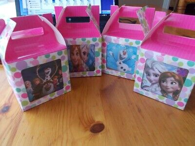 Frozen Cup Cake Boxes,party Favours,loot Boxes, Gift Boxes  - Frozen Cupcake Boxes