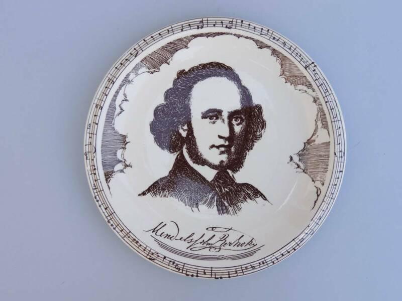 Vernon Kilns Pottery Music Masters Composers Felix Bartholdy Mendelssohn Plate
