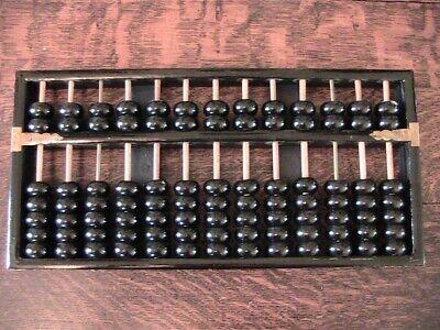 Vintage Wood LOTUS FLOWER Chinese Abacus 11 Wood Rods 2 Metal Rods 91 Wood Beads