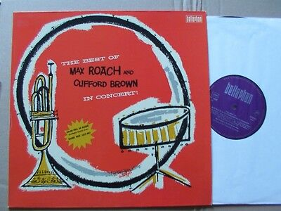 THE BEST OF MAX ROACH AND CLIFFORD BROWN IN CONCERT lp m-/vg+ bellaphon rec 1565