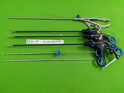 Laparoscopic Basic Training Set All Instruments For Surgery Forceps Knot Pusher
