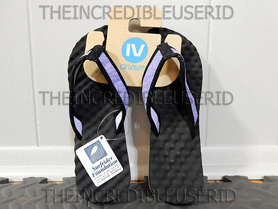 Gravis Soundcheck Sandals Women's 7 Black Purple Lavender Thongs Flip Flops NEW! Gravis Flip Flops