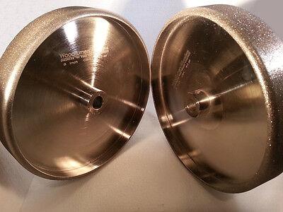 "CBN Wheel Pair - 8"" diameter, 3/4"" arbor,  220 + 80 Grit for Tool Sharpening"