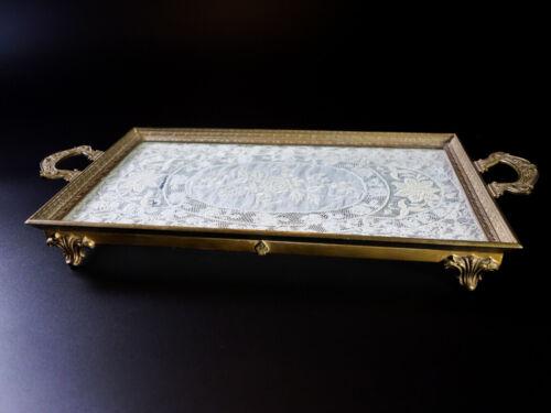 Rare Gorgeous Antique Silvercraft Perfume Vanity Tray Signed