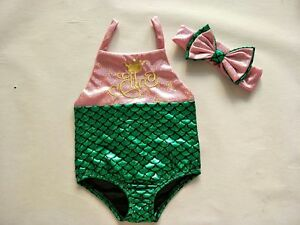 Kids-Baby-Girls-Mermaid-Swimsuit-Bodysuit-Costume-Swimwear-Beach-Bikini-Set-Bow