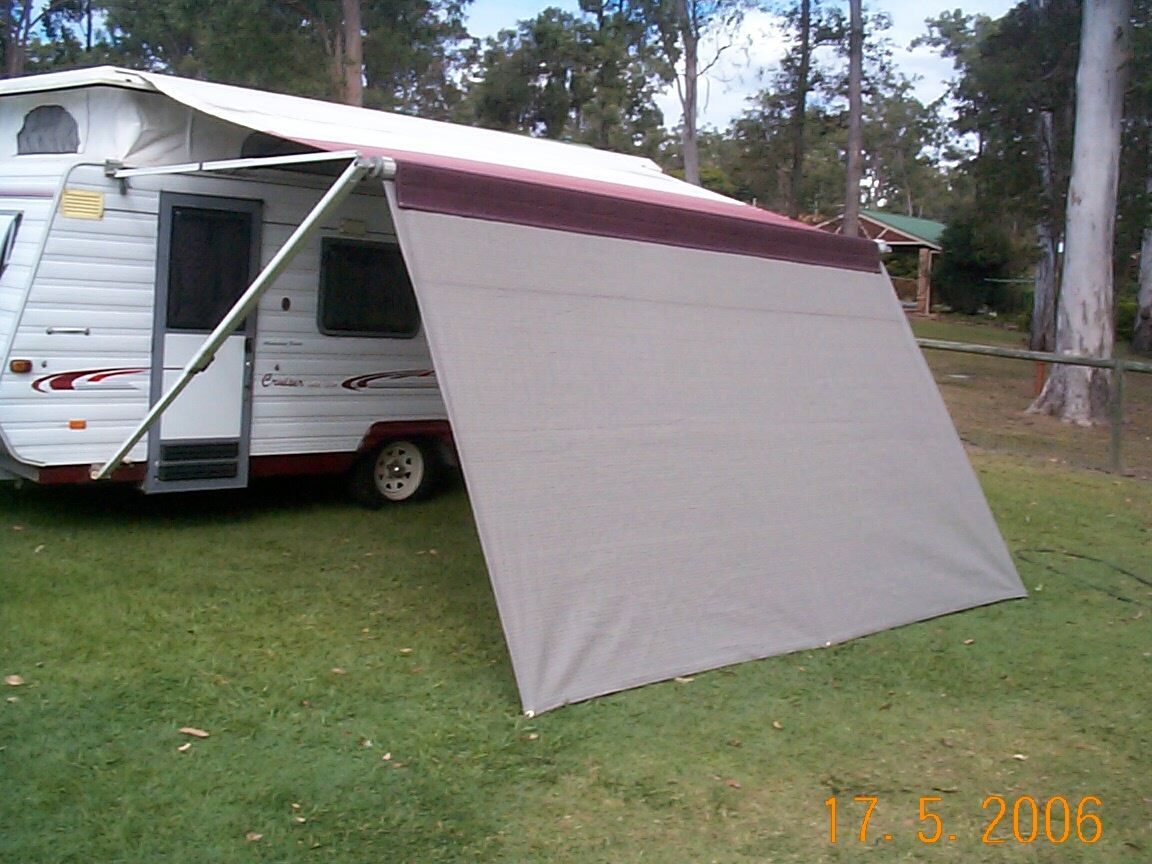 Shade Curtain/Privacy screen 1.8 x 3.5m (6x 11.5ft) for caravan Roll out Awning