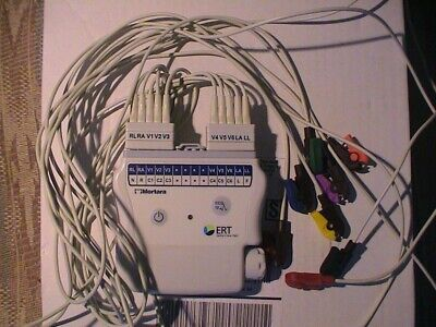 Used Mortara 2500 Wam Pc With10 Wire Aha Lead Set With Clips For Use With Wam