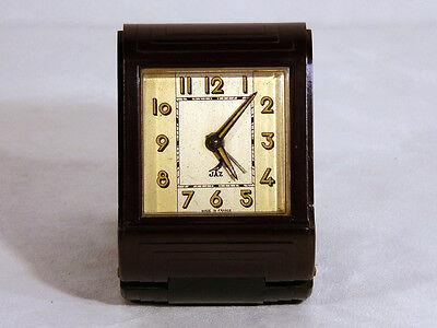 Sehr seltener Art Deco JAZ Reisewecker / Travelling Clock - Bakelit / Bakelite
