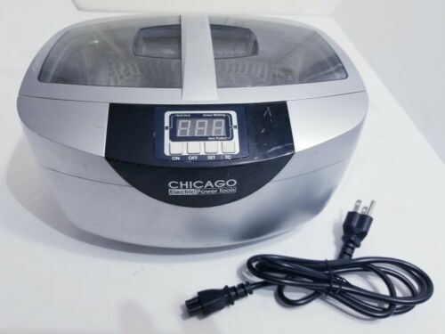 Chicago Digital Ultrasonic Jewelry Cleaner 2.5 Quart Capacity Heated 95563
