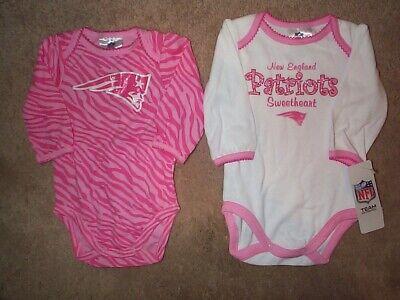 (2) New England Patriots nfl INFANT BABY NEWBORN Jersey Shirt 0-3M 0-3 Months