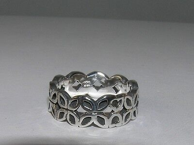 Butterfly Cut-Out Band Sterling Silver Ring Size 6 Cut Out Butterfly Ring