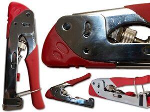 compression coaxial bnc rca crimp tools stripper rg59 rg6 f usa seller. Black Bedroom Furniture Sets. Home Design Ideas
