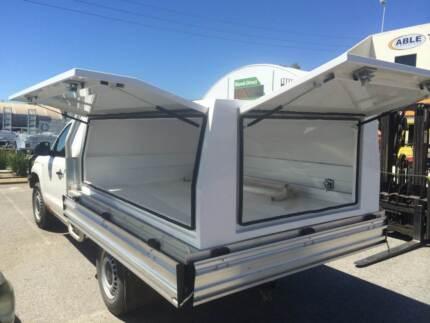 Canopy ute aluminium 2.5mm checker or white powdercoated