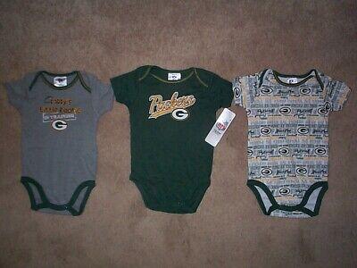 (3) Green Bay Packers nfl INFANT BABY NEWBORN Jersey Shirt 0-3 M 0-3M 0-3 Months (Green Infant Nfl Jersey)