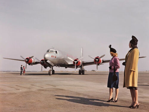 """Douglas DC-6 ((8.5""""x11"""")) Print"""
