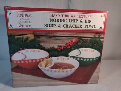 Nordic Chip and Dip Soup and Cracker Bowl - New