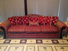 Custom Versace Timber & Fabric 3 Seater Sofa/Couch Hope Island Gold Coast North Preview