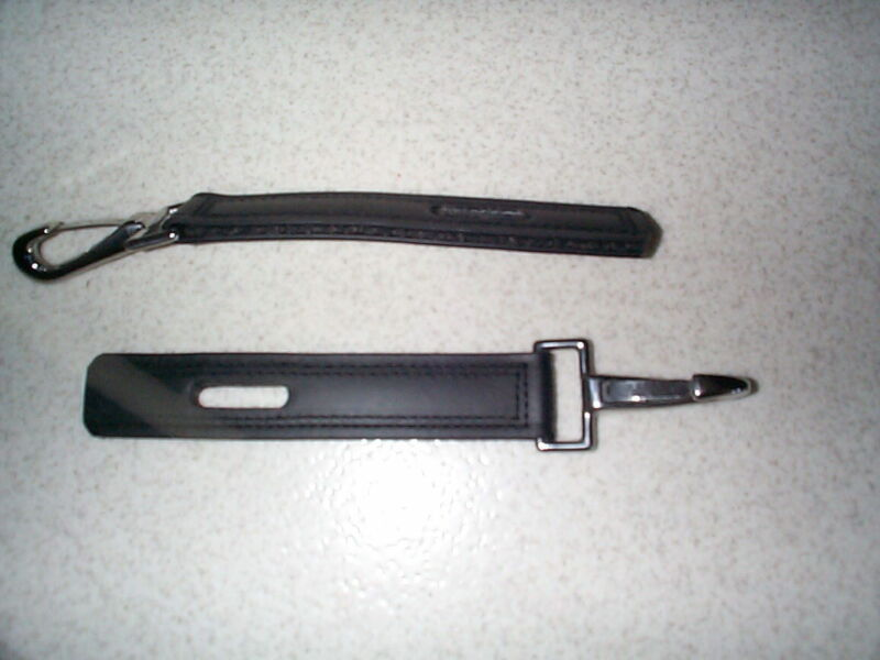 TRACE CONVERTERS, BLACK BIOTHANE WITH STAINLESS STEEL HARDWARE, AMISH MADE