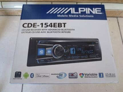 Alpine CDE-154EBT Head Unit (CD/USB/BLUETOOTH)
