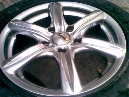 16X7 ADVANTI RACING RIMS AND SEMI SLICK TYRES..COMMODORE Sydney City Inner Sydney Preview
