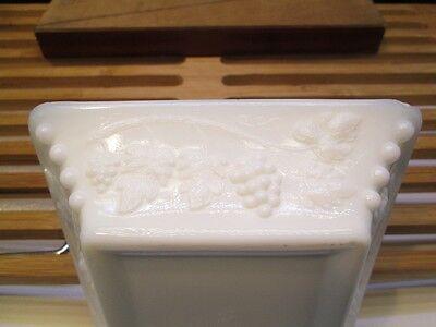 - Paneled Grape Pattern Medium Ashtray by Westmoreland - Milk Glass