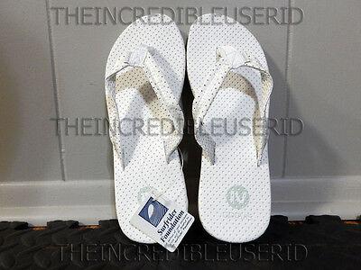 Gravis Mohito Sandals Women's 7 White Thongs Flip Flops Beach Pool SO HOT NIB =D Gravis Flip Flops