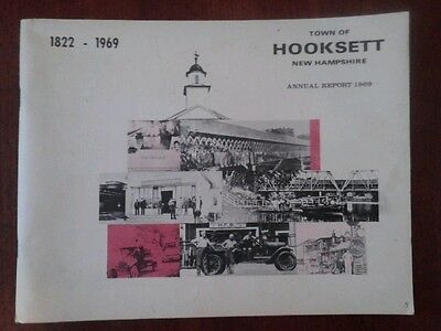 1822-1969 Original The Town Of Hooksett, N.H. 1969 Annual Report