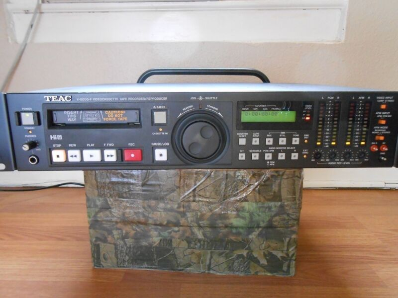 TEAC V-800G-F Hi8 Video8 8mm Video 8 Player Recorder PCM HiFi VCR Deck EX ~ SONY