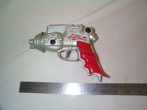 1=1-BUILT-  Atomic Disintegrator style Silver- with white metal trigger and pin!