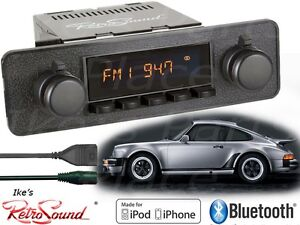 Retro-Sound-Model-TWO-B-Radio-Bluetooth-iPod-USB-3-5mm-AUX-Porsche-Blaupunkt-Kit