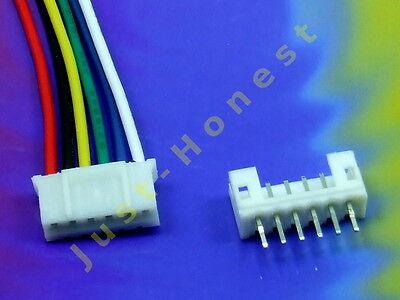 KIT BUCHSE +STECKER 6 polig/pins 2 mm  HEADER + Male Connector PCB #A648