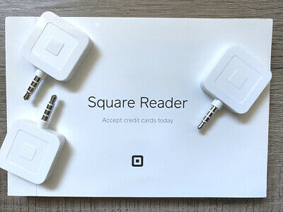 3 New Square Mag Stripe Credit Card Reader For Iphone Ipad Android Pin Plug
