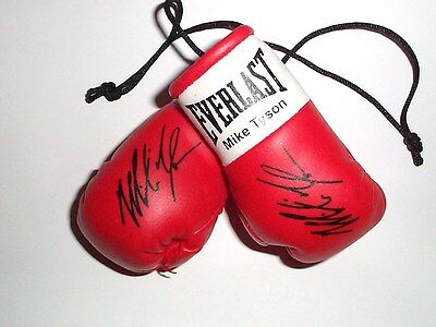 Autographed Mini Boxing Gloves Mike Tyson  (highly collectable)